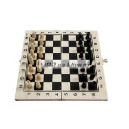 Dřevěné cestovatelské šachy mini