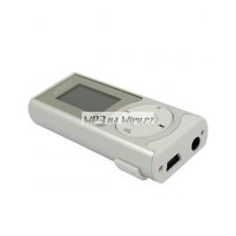 MP3 přehrávač s reproduktorem stříbrný