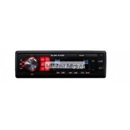 Autorádio MP3 USB/AUX/SD červené