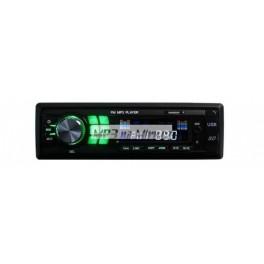 Autorádio MP3 USB/AUX/SD zelené