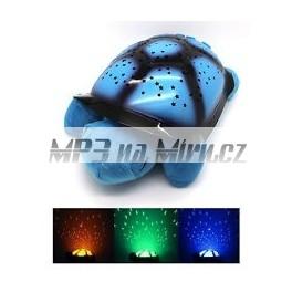 Svíticí želva s projekcí modrá