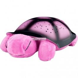 Svíticí želva s projekcí růžová
