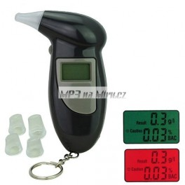 Alkohol tester digitalní + 3x výměnné trubičky