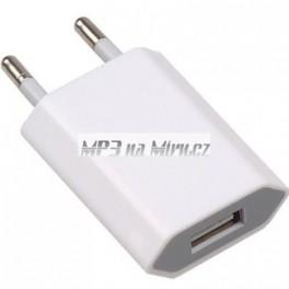 220V síťová nabíječka USB bílá