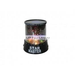 Noční LED projektor s motivem hvězd
