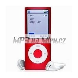 MP4 přehrávač 8GB 1,8'' LCD červený