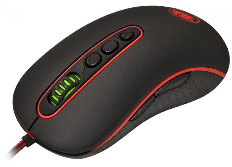 Herní myš Redragon Phoenix v černé barevné kombinaci s povedeným designem Vám nabídne výborný efekt, které zajišťuje barevné LED podsvícení myši - červená, zelená, modrá, žlutá, fialová, růžová.