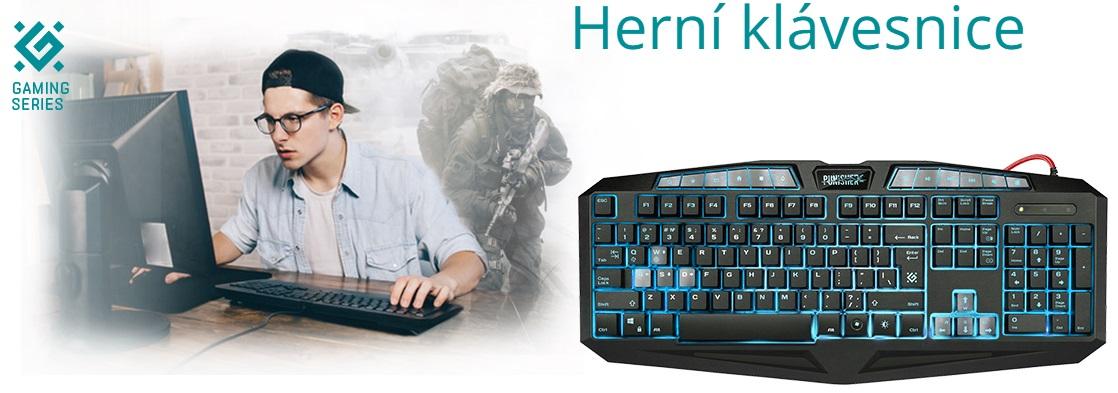 Herní klávesnice jsou speciálně upravené klávesnice pro lepší ovládání počítačových her. U nás si vyberete i herní myš, sluchátka nebo podložky.