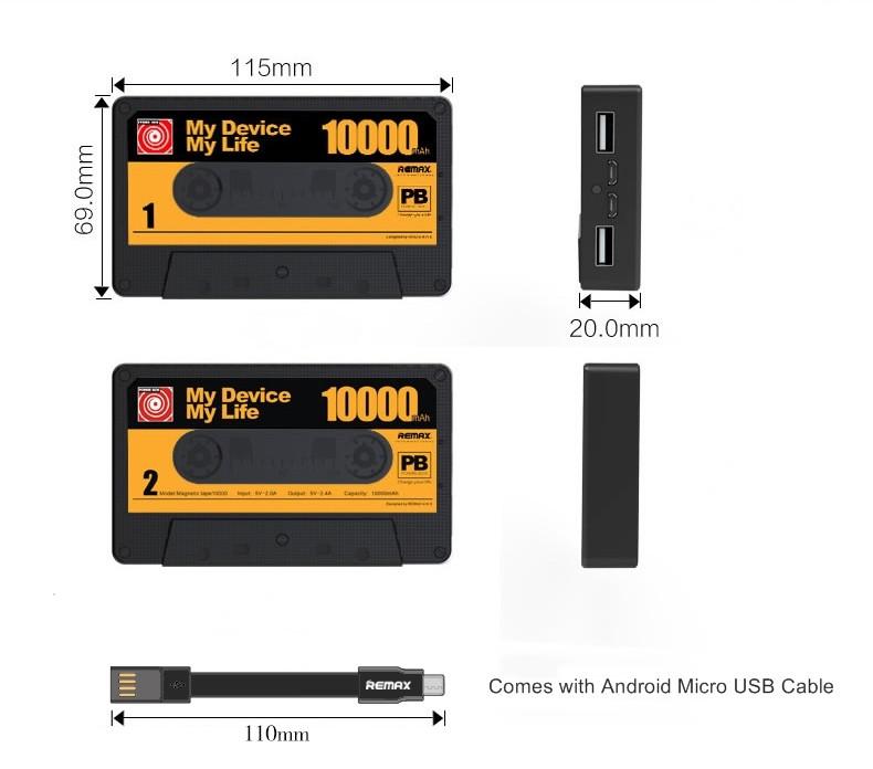 Přenosný USB akumulátor Remax se výborně hodí pro nabíjení nejrůznějších mobilních zařízení v terénu, kde nemáte možnost, jak vaše mobilní zařízení dobít a mít ho tím stále provozu schopné.