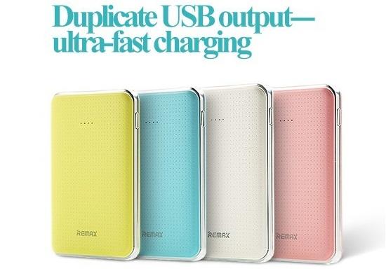 Nabíjecí externí baterie série Tiger 5000mAh s dual USB ultra-fast charging.