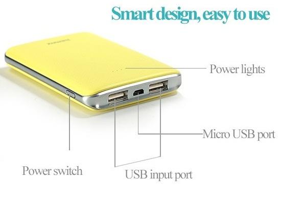 Externí přenosná nabíječka Tiger series s kapacitou baterie 5000mAh pro nabíjení Vašeho mobilního telefonu, MP3 přehrávače, PDA, PSP nebo GPS navigace kdykoliv na cestách.