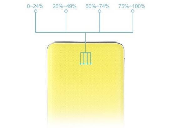 Přenosná Powerbanka Tiger vám nabídne jednoduchý LED indikátor stavu nabití na zadní straně baterie.