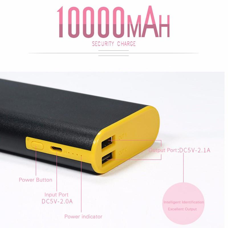 Nabíjecí externí baterie série Yuoth 10000mAh s dual USB ultra-fast charging.