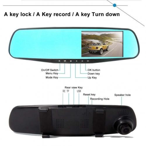 """Kamera disponuje velkým širokoúhlým displejem 4,3"""", který poskytuje jasný a dostatečně velký obraz, vhodný pro zobrazení nastavení a přehrávání videí přímo na displeji kamery."""