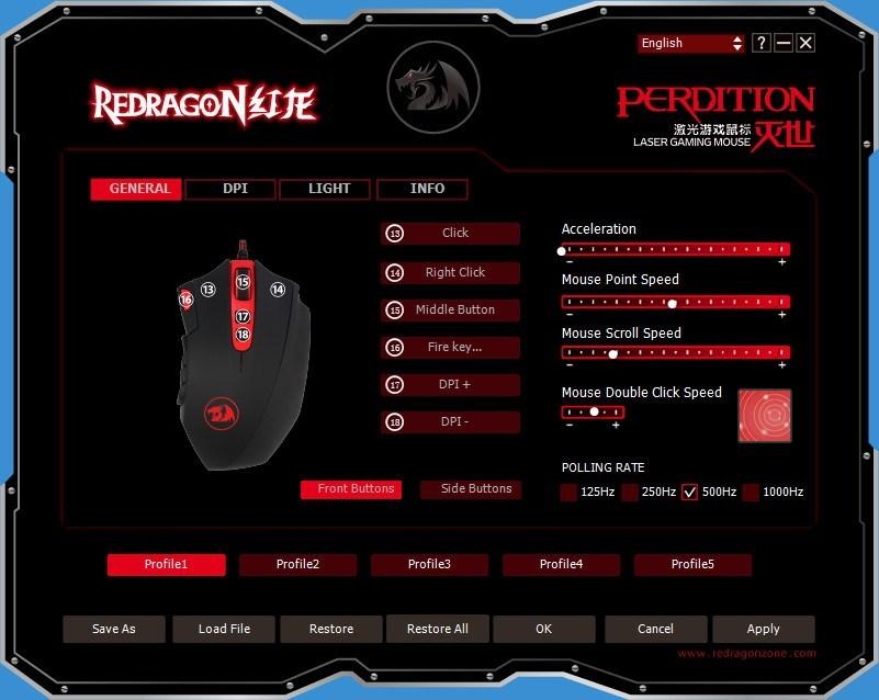 REDRAGON GAMING MOUSE nabízí zdarma program pro jednoduché nastavení Vaší herní myši Redragon a následné uložení. Můžete zde nastavit všechny funkce pro snadné ovládání myši.