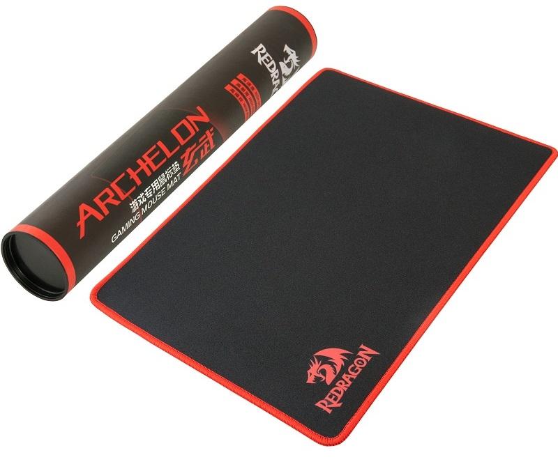 Herní podložka Redragon Archelon L v kombinaci přírodního kaučuku a hedvábí, která zvyšuje přesnost a reakci herních myší, rozměry 400x300x3mm, praktické balení v tubě.