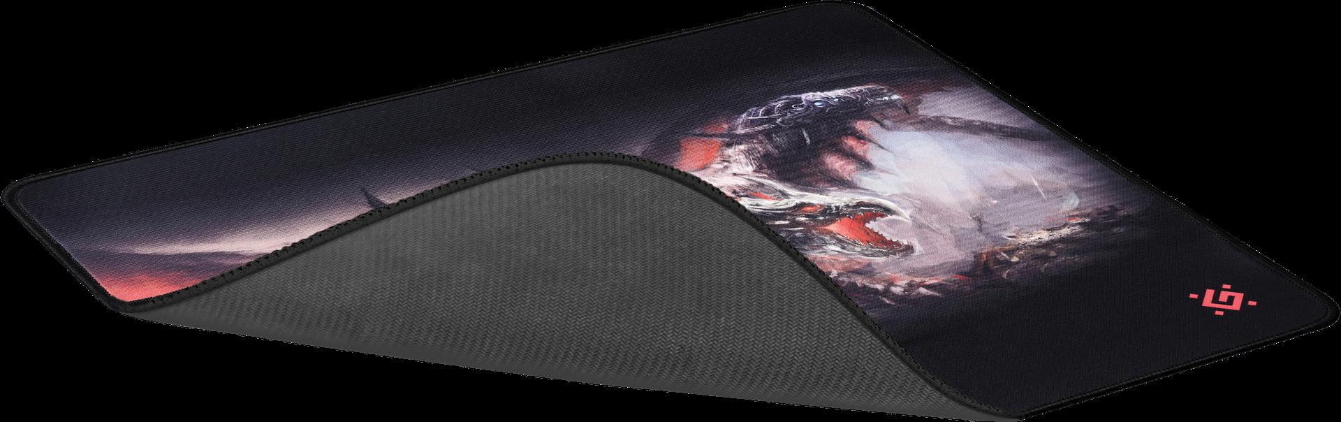 Herní podložka Redragon Cerberus XXL v kombinaci přírodního kaučuku a hedvábí, která zvyšuje přesnost a reakci herních myší, rozměry 400x355x3mm, praktické balení v tubě.