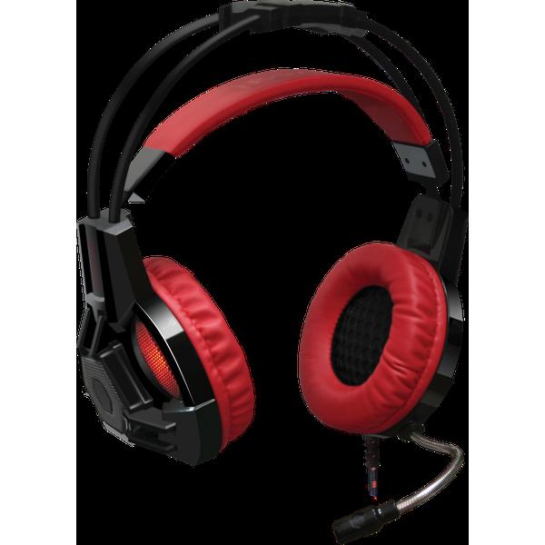 Herní sluchátka Redragon s mikrofonem zajišťující zvuk perfektní kvality pro hraní her, sledování filmů nebo pro hlasovou komunikaci, citlivý mikrofon s potlačením okolního hluku, měkké a velmi pohodlné náušníky.