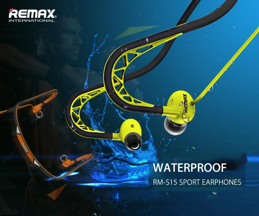 Voděodolná konstrukce chrání sluchátka Remax Sport RM-S15 před stékající vodou a proto nemusíte mít strach, když zmoknete nebo se příliš zapotíte.