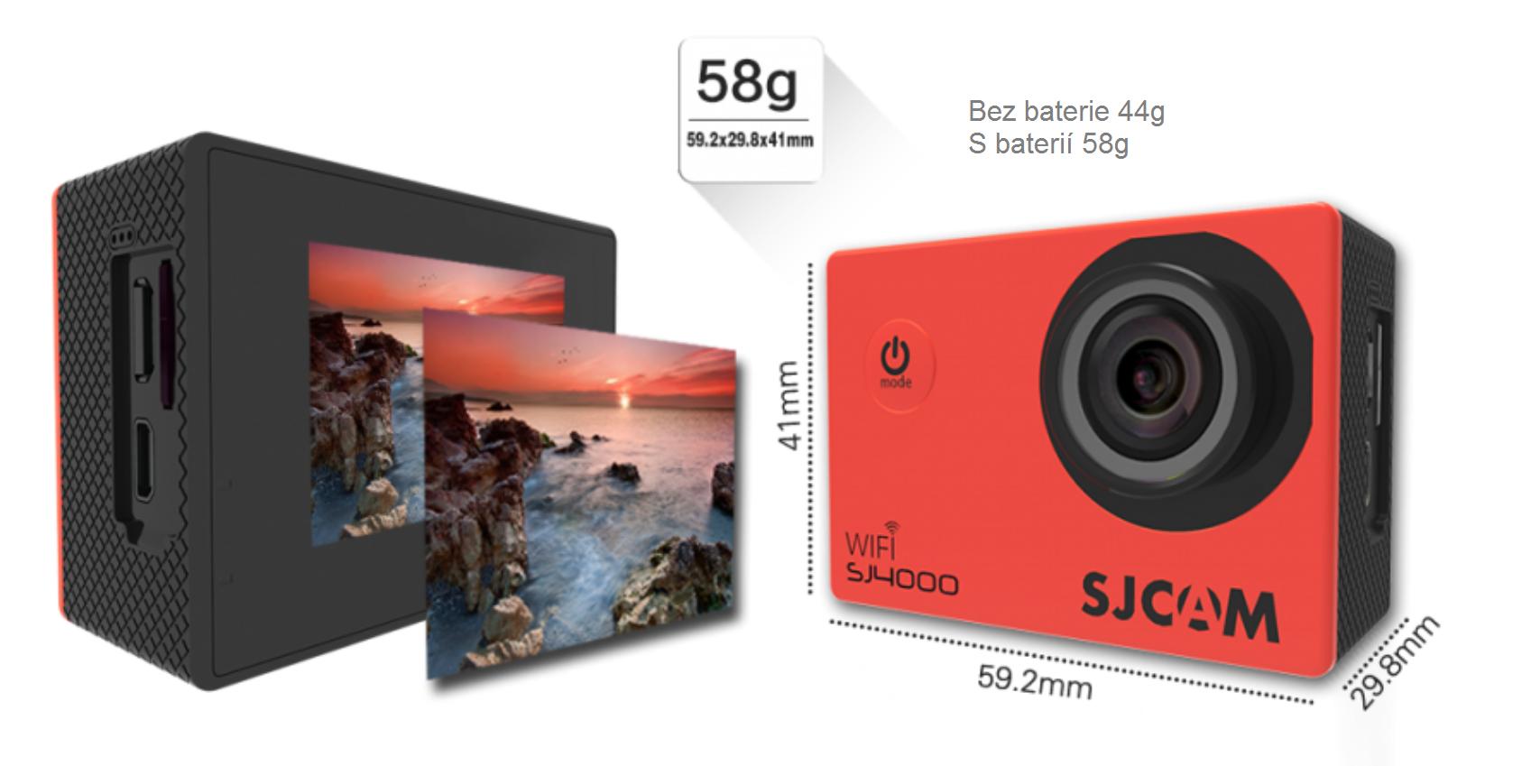 Kamera má rozměry do kapsy a je lehká jako pírko.